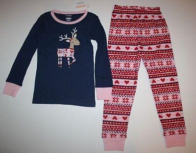 NEW Gymboree Outlet Girls Holiday Pajamas PJs 4 5 6 7 8 10 12 14 Fair Isle Deer