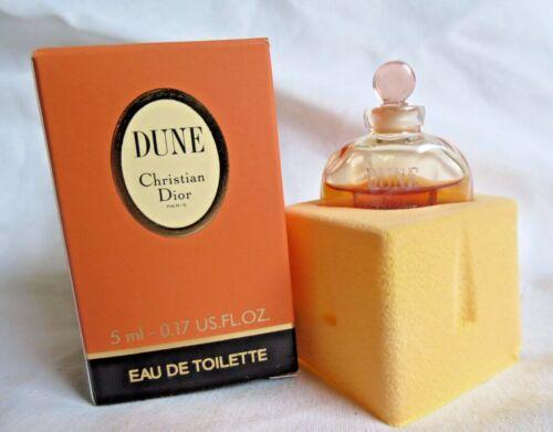Christian Dior Dune Women Perfume Eau de Toilette EDT .17 Oz Mini 5 mL NEW NIB