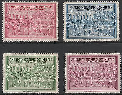 USA (1396) - 1940 OLYMPIC FUND Cinderella set of 4   unmounted mint