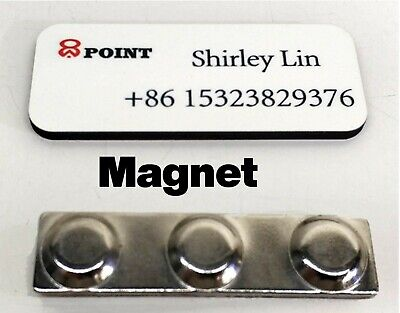 Name Tag Badge Id Pin Magnet For Business Employees Logo Custom Print Nametag