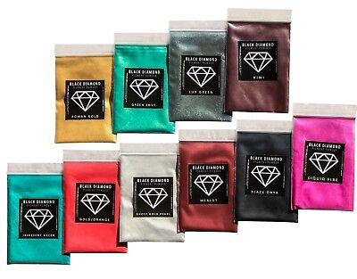 BLACK DIAMOND Mica Powdered Pigment -- 20 Color Variety Pack