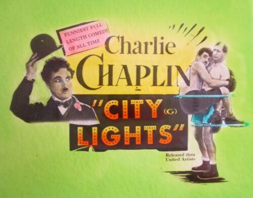 THE CURE / CITY LIGHTS Orig Australian cinema glass slides Charlie Chaplin