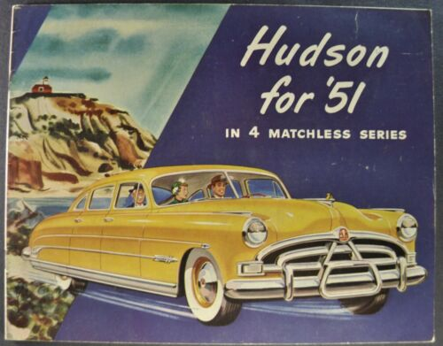1951 Hudson Brochure Hornet Commodore Pacemaker Super 6 Excellent Original 51