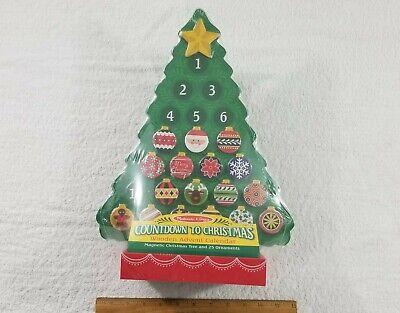 NEW, Melissa & Doug Countdown to Christmas Wooden Advent Calendar