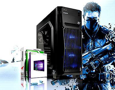 Gamer PC Intel Core i7 Quad 16GB RAM SSD + HDD GeForce GTX1050 Windows 10 PRO