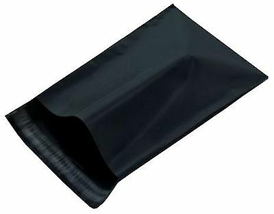 100 14.5x19 Black Poly Mailer Plastic Bag Envelopes Polybags Polymailer