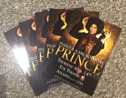 Prince Atlanta April 2016 Piano and Microphone 5 postcards handbill last concert