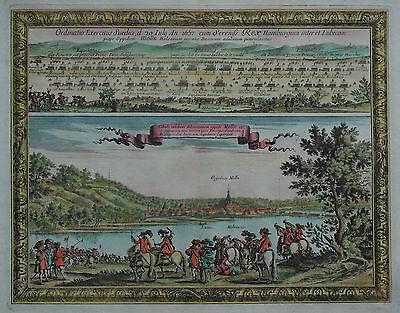 Mölln - Plan der Schlacht bei Mölln am 20. Juli 1657 - Samuel Pufendorf - 1697