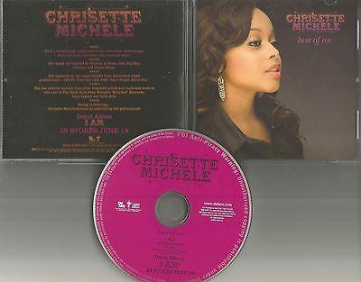 CHRISETTE MICHELE Best of Me w/ RARE INSTRUMENTAL 2007 PROMO Radio DJ CD Single