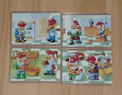 Puzzle komplett Handwerkerzwerge 1994 EU mit BPZ in Puzzlehülle Zwerge