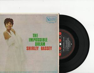 SHIRLEY-BASSEY-THE-IMPOSSIBLE-DREAM-RARE-EP-7-45-VINYL-RECORD-PIC-SLV-1967