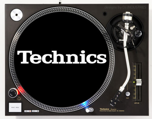 TECHNICS CLASSIC WHITE ON BLACK - DJ SLIPMAT 1200