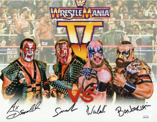 Demolition vs Powers of Pain Autograph Signed 11x14 Photo - WWF WWE (JSA COA)