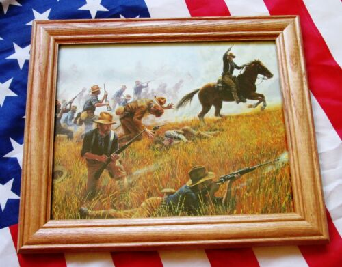 Spanish American War Print by Mort Kunstler, Theodore Roosevelt, Rough Riders