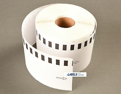 12 Rolls Brother DK2205 White Continuous Label QL 500 550 570 580N 650TD Printer