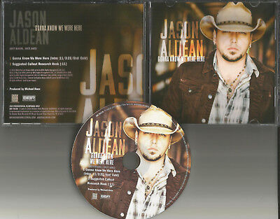 Jason Aldean Gonna Know We Were Here Picture Disc Promo Dj Cd Single Usa 2014