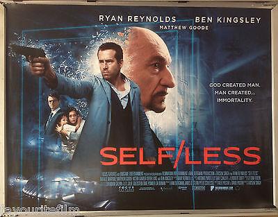 Cinema Poster: SELF/LESS SELFLESS 2015 (Main Quad) Ryan Reynolds Ben Kingsley