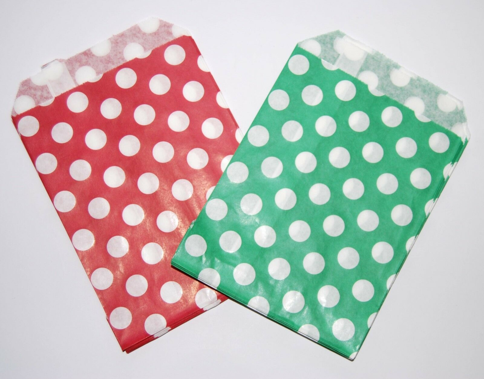 """5/""""x7/""""  PICK AND MIX PAPER BAGS CANDY POLKA DOTS SWEET GIFT PARTY SWEETS"""