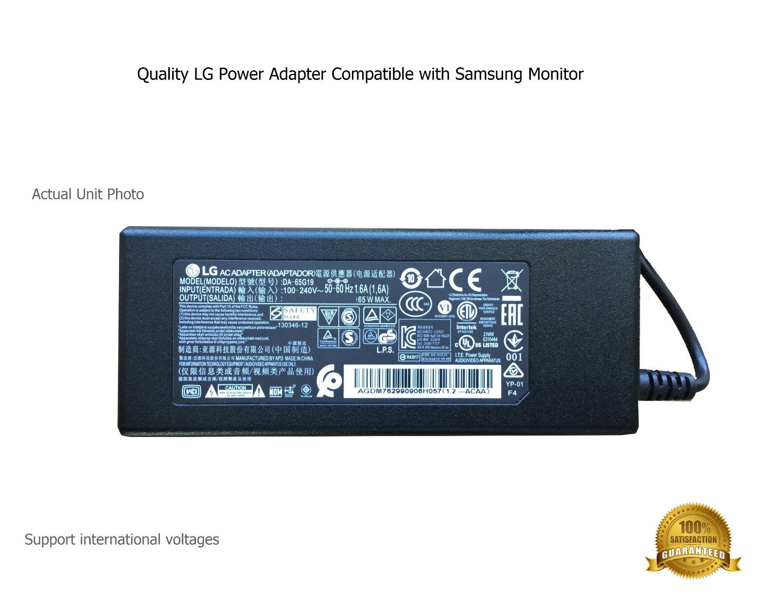 """AC Power Supply Power Adapter for Samsung 27"""" CFG70 Curved G"""