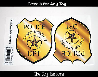 Step 2 Police Car (New Replacement Decals Stickers for Little Tikes Step2 Police Coupe Car)