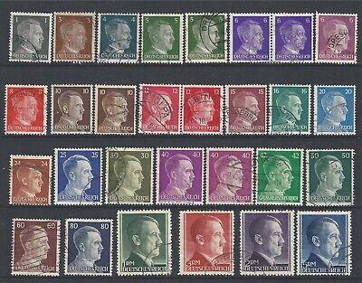 Deutsches Reich / Germania 1941-44, Hitler Mi Nr. 781 - 802 (A), 826/27 +, Usato