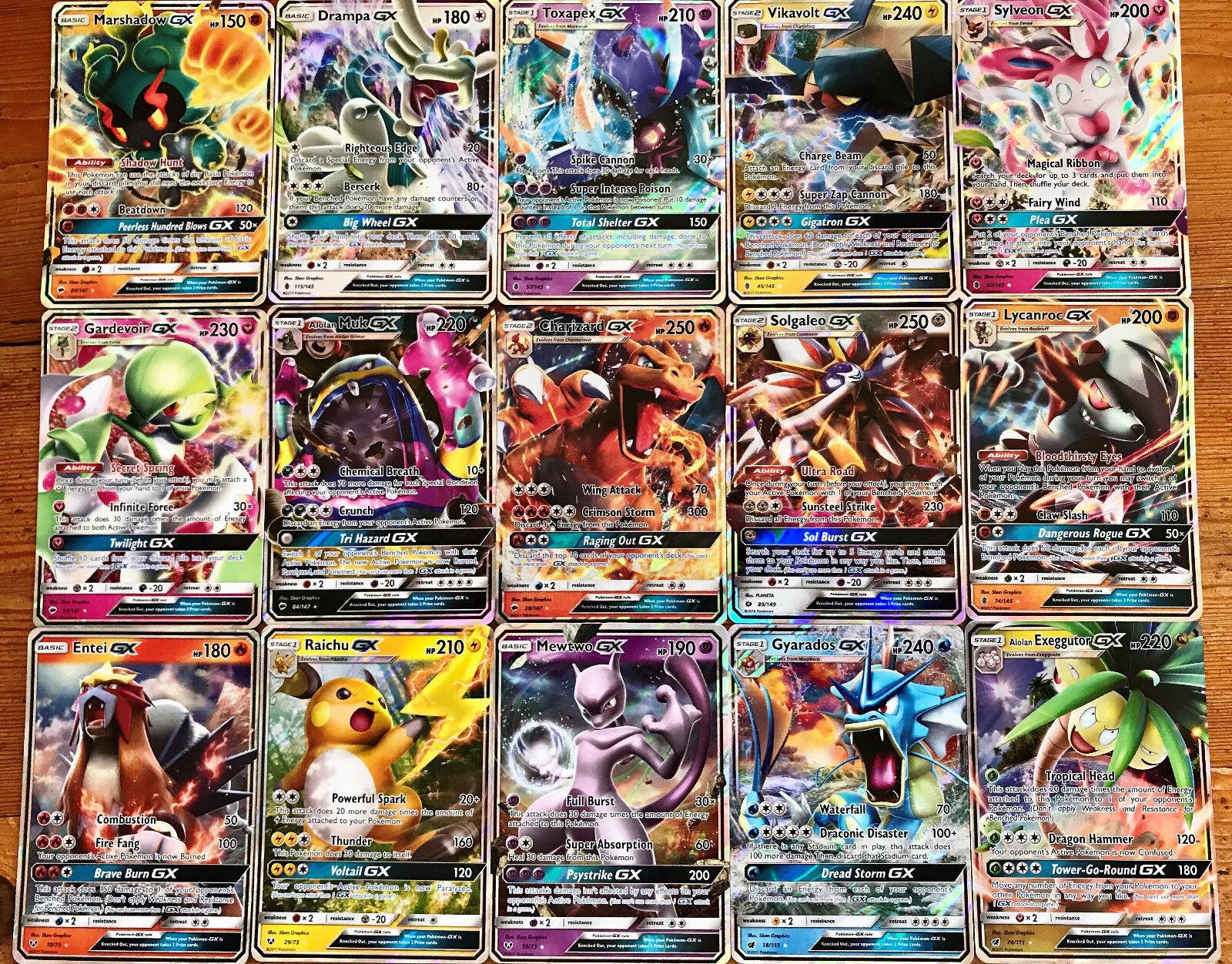 30 Pokemon Cards 1x Gx Or Ex Or Break Or Mega Ultra