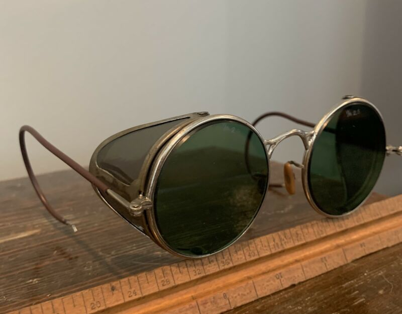 Vintage Welsh Safety Welding Glasses Steampunk Goggles