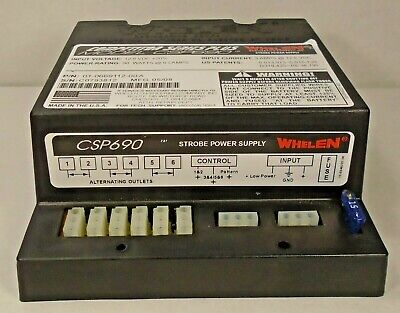 Whelen Strobe Power Supply Csp690 Competition Series Plus 90 Watts 6 Lamps