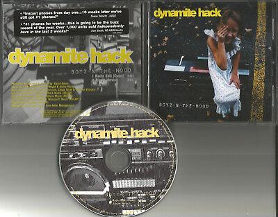 DYNAMITE HACK Boyz in the Hood 2TRX CLEAN RADIO EDIT PROMO CD Single w/ STICKER