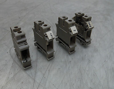 4 - Phoenix Contact Gray 750V, Type UK16N, Screw Contact Terminal Block, Used