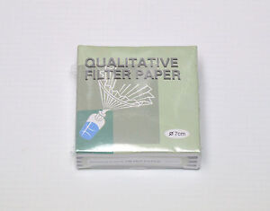 QUALITATIVE FILTER PAPER 7 cm 7cm 100 DISCS FAST Laboratory LAB solution filter