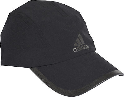 adidas Climalite Running Cap Black Adjustable Lightweight Built in Sweatband