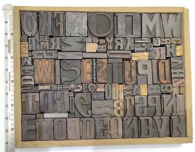 Letterpress Wood Types Collage Wise Stupid 108 Vintage Mixed Wooden Type Tc17