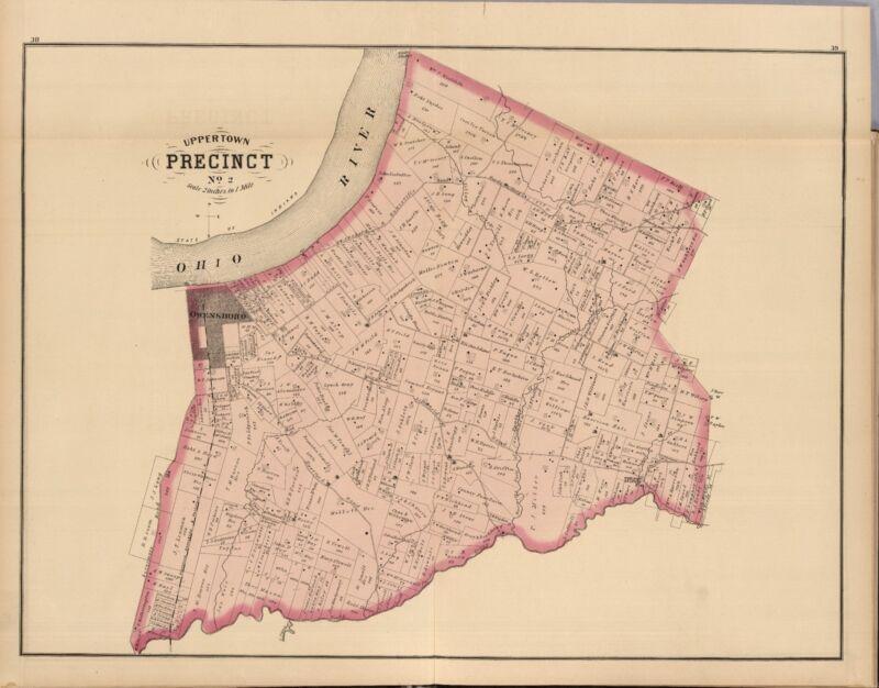1876 DAVIESS COUNTY plat map KENTUCKY old GENEALOGY Atlas LAND OWNERSHIP DVD P6