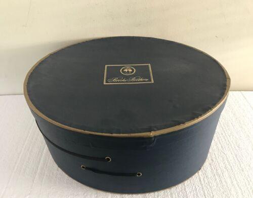 Vintage Brooks Brothers Blue Original Hat Box