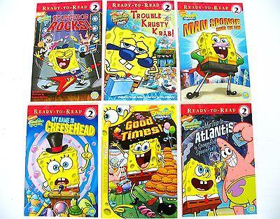 Lot 6 SpongeBob Squarepants kids early readers learn to read books level 2  on Rummage