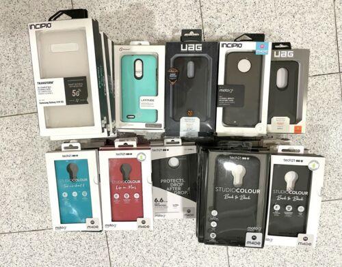 Wholesale 70 pc Bulk Mixed Lot Tech21 Incipio UAG Moto Samsung Cases - PULLS