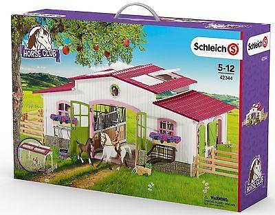 Schleich  42344 Reiterhof mit Reiterin und Pferden - Pferdestall Pferdehof Neu !