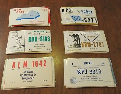 QSL Ham Radio Card Lot of 92 Kentucky KY
