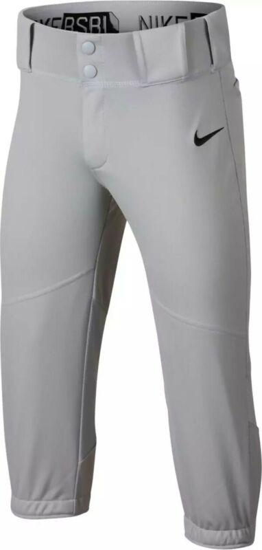 NEW Nike Stock Vapor Pro Gray High Baseball Pant Size- Boys M  [747233-012]