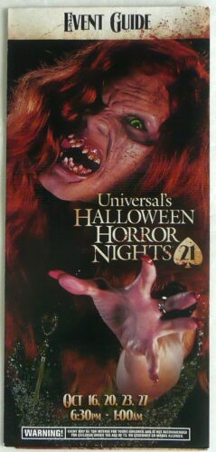 21 HALLOWEEN HORROR NIGHT 2011 ARE YOU IN LADY LUCK UNIVERSAL 1 EVENT GUIDE NEW