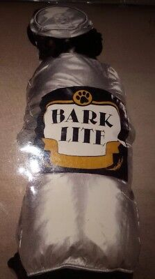 Dog BEER CAN w HAT Halloween Costume * s small * 12