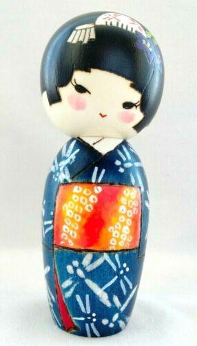 Kokeshi Doll Artisan 沖いづみ Izumi Oki 秋風(Akikaze:autumn breeze)Dragonfly Kikyo