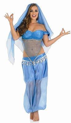 Damen Sexy Arabische Prinzessin Bauchtänzerin Jasmin Kostüm Kleid Outfit