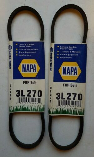 "Lot of 2 - 3/8"" x 27"" Rubber V belt Napa Gates 3L270"