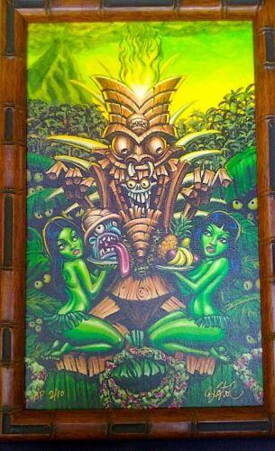 "ARTIST ""BIG TOE"", Tom Laura ORIGINAL ART, Zombie Tiki Deluxe, The Head Salesman."