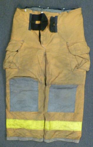 42x28 Janesville Yellow Firefighter Pants Turnout Bunker Fire Gear P039
