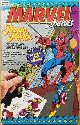 Presto Magix Marvel Super Heroes Stick and Lift Spider-Man Hulk Brand New SEALED