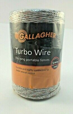 Gallagher Turbo Wire 660 18 Mile Long Portable Electric Fence Farm New
