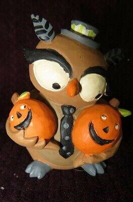Woodsy Owl with Jack-O-Lantern Figurine - - Halloween Owl